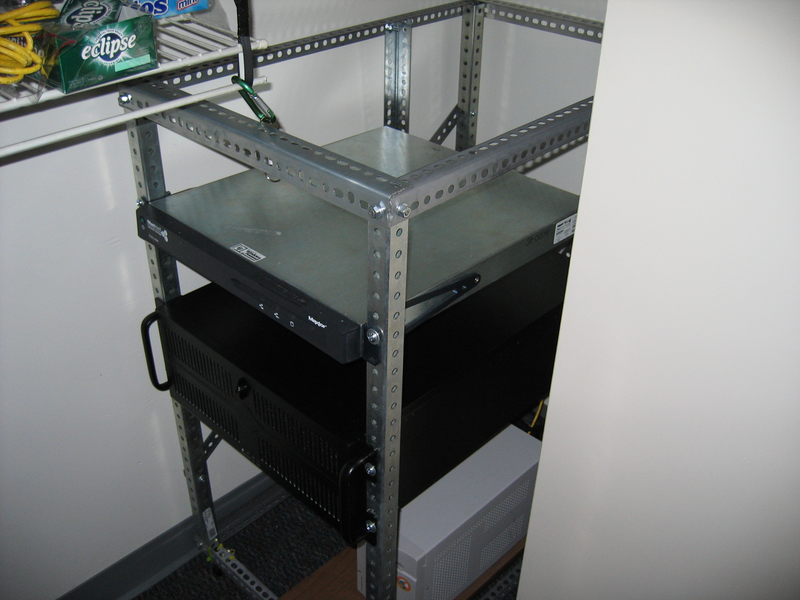 diy ~20u server rack | deadly computer blog