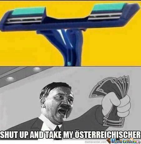 Hitler shaving
