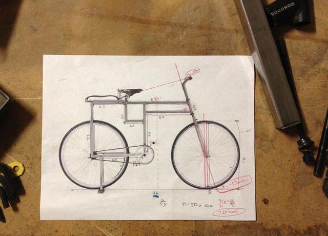 square bike plans