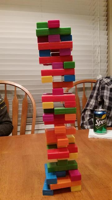 Tetris Jenga played